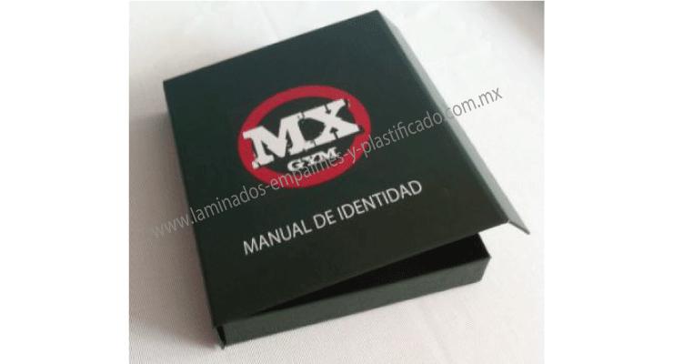 Caja de cartón tipo estuche para manual corporativo